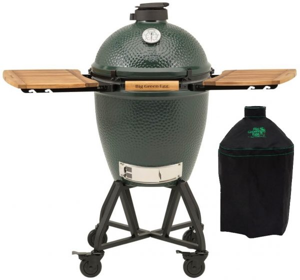 Big Green Egg Large + Integgrated Nest+Handler + Zijtafels + Hoes - Barbecuenu.nl