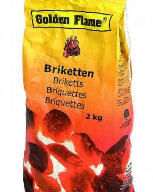 Golden Flame Briketten 2 Kilo - Barbecuenu.nl